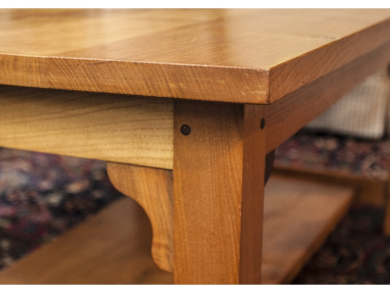 Sweet chestnut and walnut arts and crafts style coffee table for Arts and crafts style table